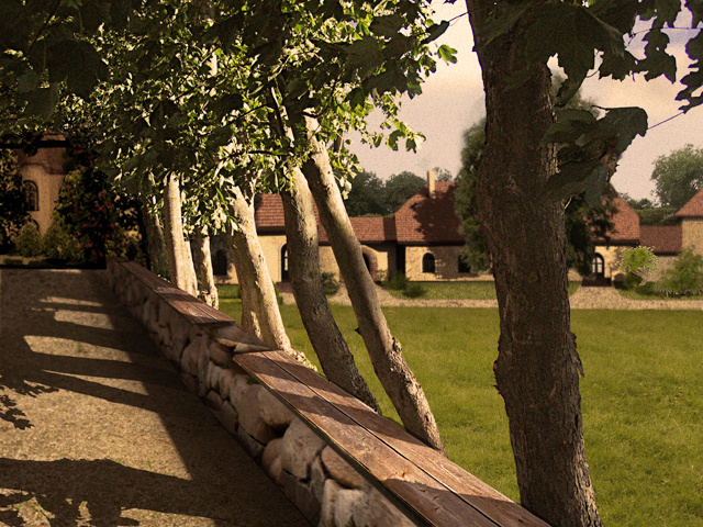Gutshof gutshaus herrenhaus Mazuren Ermland  bauernhof manor house Altersheim Bauernwirtschaft Polen